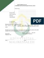 Surat Pernyataan Kesanggupan Membayar Ukt Terbaru