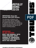 Taurus PT 22-25 Pistol Manual