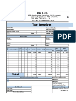 Tax Invoice - Intra State