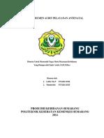Tugas Instrumen Audit Pelayanan Antenatal