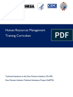 Human Resources Management Training Curriculum
