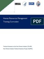 Human Resources Management Training Curriculum