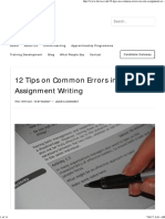 12 Tips on Common Errors in Assignment Writing