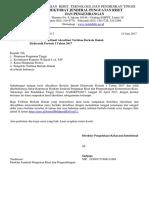 Pemberitahuan Hasil Akreditasi Terbitan Berkala Ilmiah Elektronik Periode I Tahun 2017