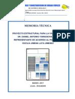 Memoria Estructural Cecilia Lata