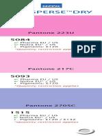 Color Guide SEPISPERSE v2014 Purple