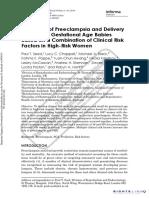 Prediction of Preeclamsia