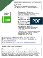 Walawender Membrane Separation