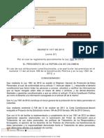 CO18 Decreto 1377 de 2013