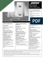 Ficha técnica altavoces Bose 502A