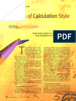 Eelements of Calculation Style