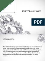 Robot Languages