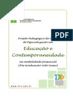 PPC Educacao e Contemporaneidade -Aprovada No Consepex