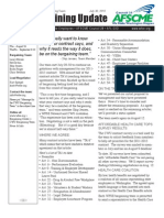 CWU Bargaining Update - July 30, 2010