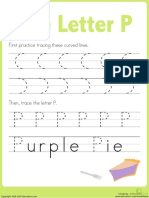 Practice Tracing p Prek