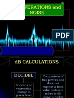 DB Operations and Noise