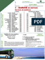 Circolare Delle Marine Mattina e Sera Da Giugno a Settembre 2017