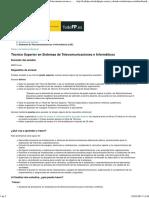 Portal Todo FP Técnico Superior efn Sistemas de Telecomunicaciones e Informáticos