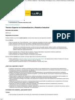 Portal Todo FP Técnico Superior en Automatización y Robótica Industrial