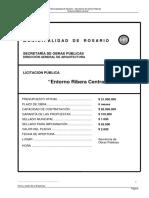 Pliego Licitación Entorno Ribera Central