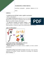 La Matemática Como Ciencia