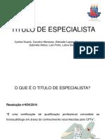 Titulo de Especialista