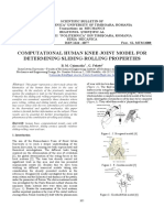 COMPUTATIONAL HUMAN KNEE JOINT MODEL FOR DETERMINING SLIDING-ROLLING PROPERTIES