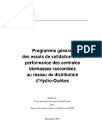 Distribution Programme Essais Validation Performance