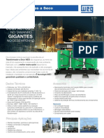 WEG Transformadores a Seco 50038545 00 Catalogo Portugues Br