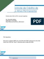 CIAP - Controle de Crédito de ICMS Do Ativo Permanente