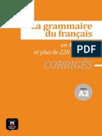 la grammaire du francais a2 corriges