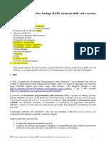 DPS, Rischio Informatico, Backup, RAID, Sicurezza Delle Reti e Accesso Remoto