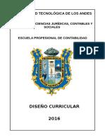 Diseño Curricular de La E.P. de Contabilidad 2016