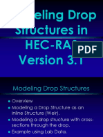 Modeling Drop Structures in HEC-RAS