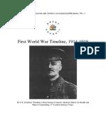 WW1 Timeline