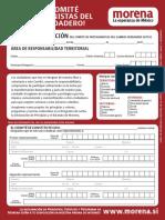 COMITÉS DE MORENA (formato para constitución de comités)