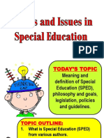 Sped Topic Report