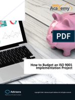 How to Budget an ISO 9001 Implementation Project En