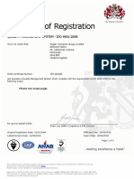 ISO 9001 2015 Pegler Yorkshire Group