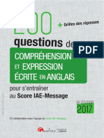 200 Questions de Comprehension Et Expression Ec...Glais Pour Sentrainerau Score IAE-Message 2017