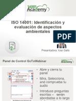 ISO 14001 Identificacion y Evaluacion de Los Aspectos Ambientales Presentation Deck