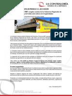 NP41-2017   Contraloría solicita al MEF congelar cuentas de los Gobiernos Regionales de Áncash y del Callao ante indicios de irregularidades