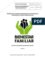 programa Vigilancia Epidemiologica Ocupacional Del Riesgo Cardiovascular