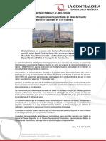 NP42-2017 | Contraloría identifica presuntas irregularidades en obras del Puente Comuneros valorizado en 53 millones