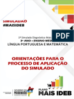 Manual de Aplicacao Do Simulado Mais IDEB