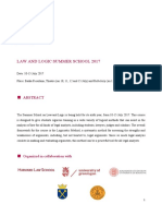 Law and Logic Summer School 2017 Final Programme