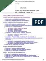 LES DROITS DES TRAVAILLEURS - ALGERIE