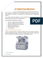Types of Tablet Press Machines