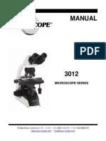 MANUAL-3012 Microscope Series