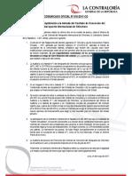 Comunicado 10-2017 | Auditoría de Cumplimiento a la Adenda del Contrato de Concesión del Aeropuerto Internacional de Chinchero